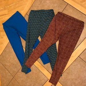LulaRoe leggings tights Bundle of 3 Tall & Curvy